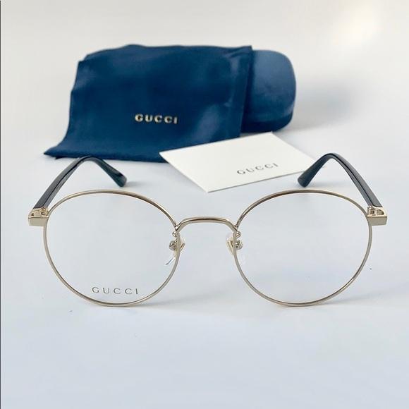 1a1d448d928 Gucci Men Women Eyeglasses GG0297OK-001 Gold